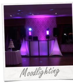 Moodlight Uplighting Hire for Wedding